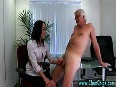 Handjob, Office, Cfnm