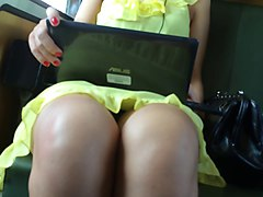 Upskirt, Dress, Train