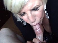 Granny, Blonde, Blowjob