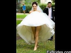 Upskirt, Bride, Wedding