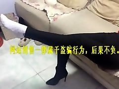 Chinese, Footjob, Socks