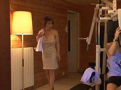 French, Sauna, Milf