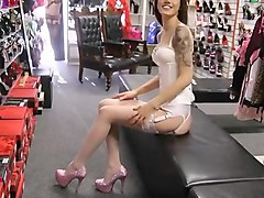 Heels, Stockings, Dress