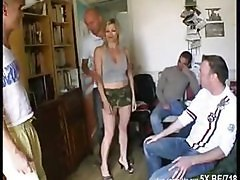 Blonde, French, Gangbang