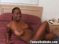 Ebony, Bukkake, Party