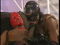Black, Latex, Facial