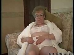 Granny, Dress, Cumshot